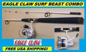 107 Piece Set #CCLSSP FREE US SHIPPING EAGLE CLAW Brave Eagle 5/' Spinning Combo