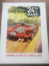 Art Deco Classic MotorSport Car Racing Automobile Poster 16x12 Le Mans 1961