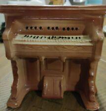 Vintage Pottery Upright Piano Planter Brown White & Black keys vase