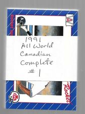 1991 AW All World CFL Canadian Football Complete Set 110 Cards NRMT