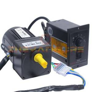NEW Electric Motor Variable Speed Controller 15W AC220V Gear Motor 1:10 125RPM