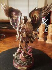 "Bradford Exchange St. Michael Triumphant Warrior Archangels of Light 10"" Figure"