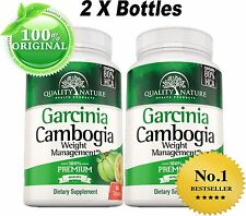 2 X BOTTLES -Pure Garcinia Cambogia 80% HCA, Weight Loss Diet Pills - Fat Burner