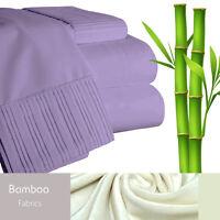 Bamboo Living Eco-Friendly 6 Piece Bedding Soft Sheet Set - Queen - Purple