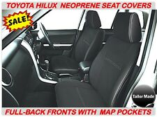 FRONT FULL-BACK NEOPRENE SEAT COVERS SUITS - HILUX SR / SR5 (JUNE 05 - AUG 2015)