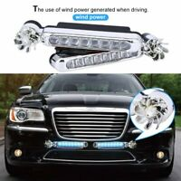 2x Wind Power 8 LED Car Daytime Running Light Fog Light Car DRL Driving Lights