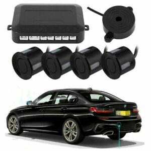 4x Parking Sensors Car Reverse Backup Rear Radar Alert System Buzzer KIT (Black)