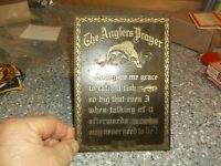 K7 South Bend Tackle company . The anglers Prayer brass plaque 5x7 rare