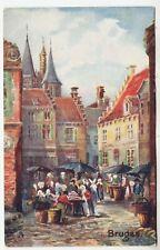 BRUGES - Belgium - Raphael Tuck Wide Wide World Oilette #8935 - 1920s postcard
