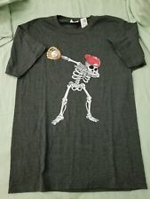 Skeleton Dabbing Baseball  T-shirt Tee gray small NWOT