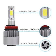 2PCS S2 H8/H9/H11 TURBO LED HEADLIGHT CONVERSION KIT 72W 6000K WHITE High Power