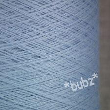 Pura Lana Merino suave Bebé Azul 250g Cono 2/30s laceweight Telaraña Hilo Luz Cielo