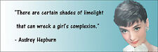 """Audrey Hepburn """"Girl's Complexion"""" Quote Poster Print 7""""x21"""" On Matte Canvas"""