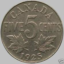 1925 Canada 5 Cent Coin