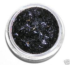 1 boite Paillette filaments Bijou d'ongle Nail Art Noir