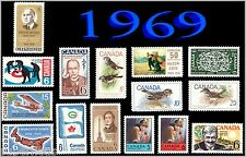 1969 Complete Year Set / Canada MNH Postage Stamps