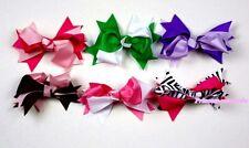 "Lot 6 Fashion 4.5"" Windmill Girl Hair Clip 2 Color Bow For Pettiskirt Headband"