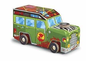 Safari Truck Jigsaw Puzzle in Vehicle Shaped Box 48 Piece - Crocodile Creek Toy
