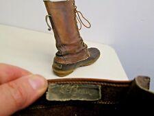 Vintage 1950's LL Bean duck boots Black Cursive label Maine Hunting Shoe sz 7N