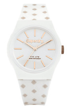 Genuine Superdry 'Urban' White Silicone Strap Watch With Rose Gold Detail