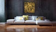 Gold Leaf Original Modern Painting Palette Knife Damask Gallery Artist Anya