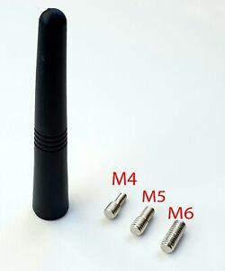 ANTENNE XS SCHWARZ 9CM MINIANTENNE ANTENNENSTAB + ADAPTER M5 / M6 /