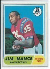 Jim Nance 1968 Topps Football ROOKIE Card #72 Boston Patriots