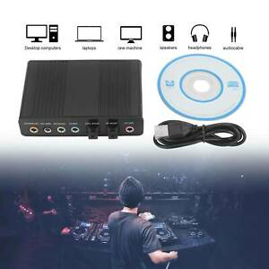 USB 6 Channel 5.1 External SPDIF Optical Digital Sound Card Audio Adapter for PC