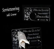 1 Serviettenring + Wunschgravur Hochzeit Kommunion Konfirmation Taufe Butterfly