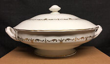 Royal Worcester Gold Chantilly Round Covered Serving Bowl