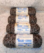 4 Vintage Skeins of Maxi-Cord Twisted Herculon Yarn for Macrame, Lawn Chairs...