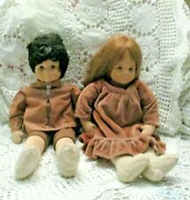Vintage Stockinette Boy & Girl  18 in Tall Unknown Maker