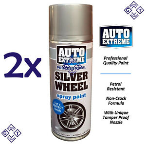 2X 400ml AX Silver Wheel Spray Paint For a Perfect Finishing Professional Paint