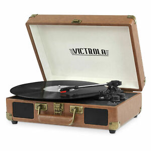 Victrola Turntable Record Player Portable Suitcase Bluetooth RCA Aux-in 3-Speed