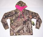 MOSSY OAK WOMEN'S GREEN/BROWN CAMO W/ PINK HOODIE SWEATSHIRT SIZE SMALL NWT!