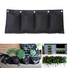 4 Pocket Vertical Wall Garden Hanging Plant Planting Planter Herb Flower Bag