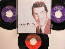 LOT OF 4 ' DEAN  MARTIN ' HIT 45's+1P(Copy)[Everybody Loves Somebody] 50's&60's!