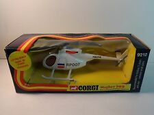 Corgi #9212 White Police Politie Hughes 369 Helicopter w/ lifting winch w/ box