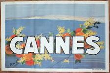 Affiche originale  ancienne Cannes par Sem 120,4 x 80 cm Draeger