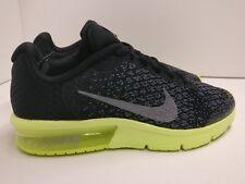 Nike Air Max Sequent 2 (GS) UK 5 Black Metallic Cool Grey 869993008