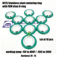 KF-25 NW-25 Stainless steel centering Ring  O-ring = FKM viton 10pcs pack vacuum