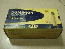 Vintage EMPTY CIL Dominion 38 SPECIAL SHELL BOX Center Fire Cartridge Montreal 2