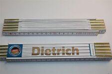 Zollstock mit Namen     DIETRICH    Lasergravur 2 Meter Handwerkerqualität