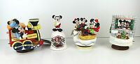 80s Disney Schmid Ltd Ed. Figure Mickey & Minnie Mouse Christmas Lot Of 4