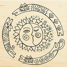 Sun Chase Design LAUREL BURCH Wood Mounted Rubber Stamp STAMPENDOUS New, LBW011