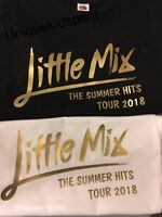 Little Mix t-shirt Summer Hits 2018 kids/adults personalised with name on back