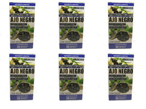 Black Garlic Reinforced with Parsley and Nettle 6 Pack 180 Caps 6 months supply