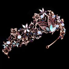 pink butterfly vintage tiara diamante prom bridemaid bridal nature party flowers