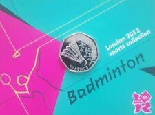 Olympic BADMINTON  50p coin Royal Mint carded BU
