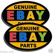 GENUINE EBAY PARTS (2x) Stickers Auto Part Car Mechanic Repair Rebuild Decals